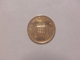 Монета 1 Новый Пенни 1981 год Великобритания