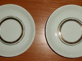 Два блюдца Городницкий фарфор СССР диаметр 11 см