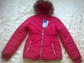Новая куртка красная и т-синяя 158р и 164р
