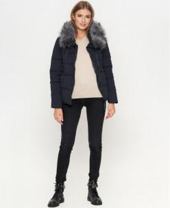 Оригинальная женская куртка синего цвета модель 6529