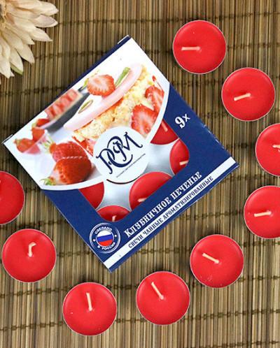 Набор свечей Клубничное печенье (9 штук), горение 3,5 ч