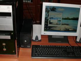 Компьютер с ИБП ЖК монитор мышь клавиатура колонки