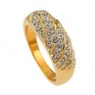 """Позолоченное кольцо """"Алмазная россыпь"""""""