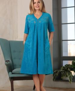 Велюровый халат до 56 размера