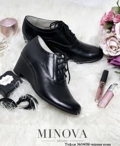 Туфли №540М-Черная Кожа