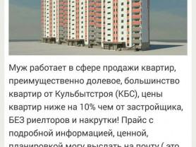 Продажа квартир, преимущественно долевое.