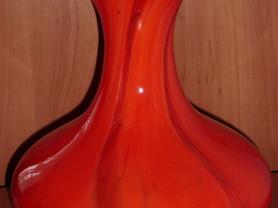 Ваза красное цветное стекло высота 22 см