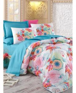 Комплект Постельного Белья с одеялом Евро 2 сп. Royal Satin