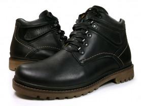 Зимние ботинки на шнурках без молний