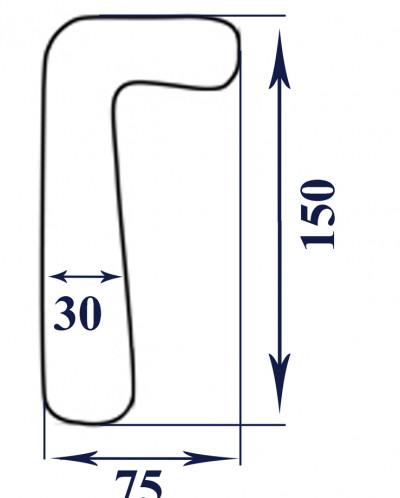 Размеры u образной подушки для беременных 43