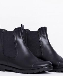 Ботинки из натуральной черной кожи №334
