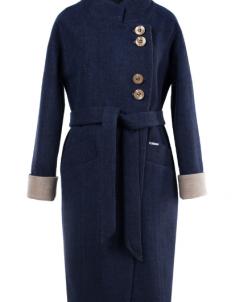 01-7289 Пальто женское демисезонное (пояс) Валяная шерсть Че