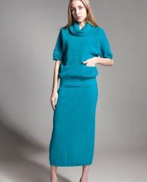 Синий лен натуральная одежда