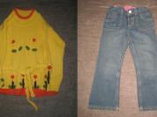 кофточка и джинсы р.104