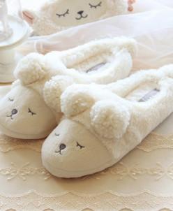 Тапочки Мишки Белые Halluci