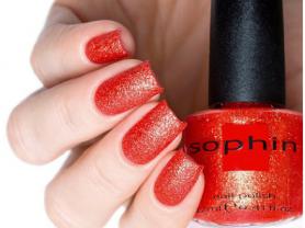 Лак для ногтей SOPHIN оттенок 262 эффект песок