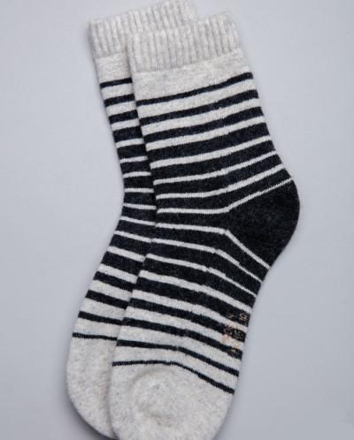 Носки из шерсти серый с полосками, Монголия