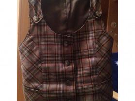 школьные юбка и жилетка