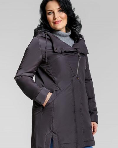 """Пальто """"Амина"""" темно-коричневое"""