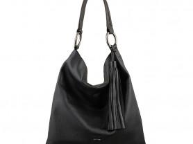 Новая стильная кожаная сумка с кисточкой Италия