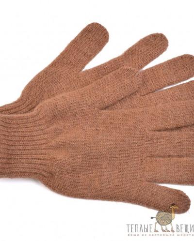 Перчатки из верблюжьей шерсти бежевые
