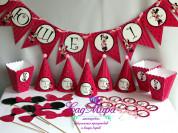 Набор для украшения дня рождения Минни Маус розов.
