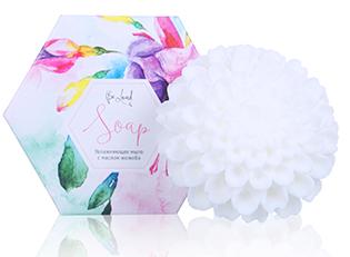 Увлажняющее мыло (хризантема белая) Сувенирное мыло с маслом