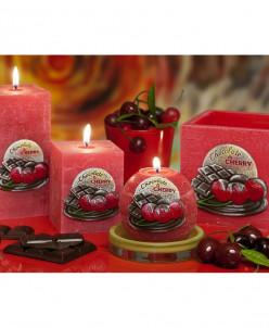 свеча Вишня в шоколаде Лампион Квадрат 110X105