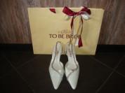 Свадебные туфли бренда To Be Bride 39р.натур.кожа.