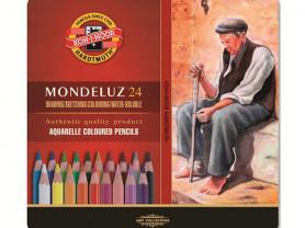 Набор акварельных карандашей Mondeluz, 24 цвета