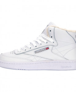 Кроссовки Reebok All White Club C 85 Face Winter