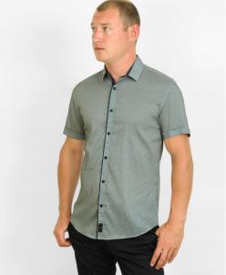 Легкая молодежная рубашка Black Stone бежевого цвета
