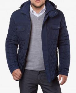 Утепленная синяя куртка модель 1698