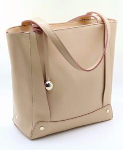 Женская кожаная сумка 879 Персиковый