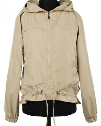 04-2202 Куртка ветровка демисезонная Плащевка Бежевый