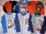 Джемпера-футболки с длинным рукавом р. 128 (6штук)