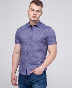 Сиреневая молодежная рубашка Semco дизайнерская модель