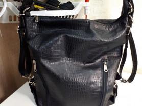 сумка -рюкзак из натуральной кожи