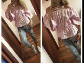новая нежно розовая блуза с жемчугом