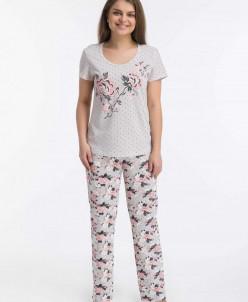 Костюм с брюками Розы (3448). Расцветка: розовый