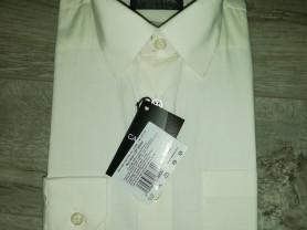 Рубашка новая в упаковке р. 122-128, цвет кремовый