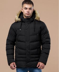 Стильная черная молодежная куртка модель 25370