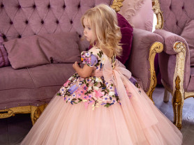 оригинальные новые детские пышные платья в пол
