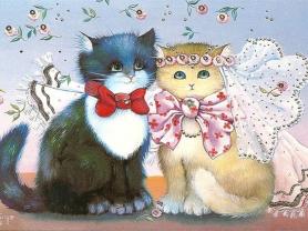Картины по номерам GX 4125 Кошачья свадьба