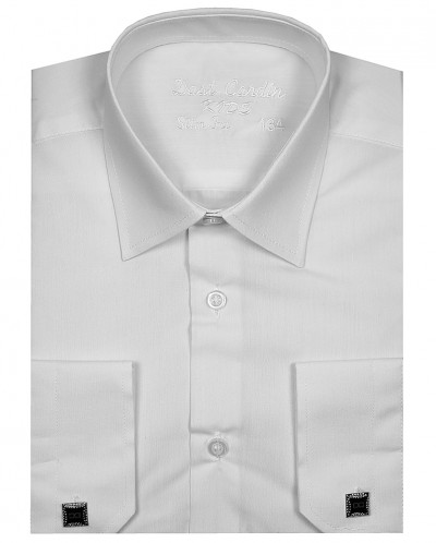 Рубашка для мальчика, Dast Cardin, арт.201, белая, Slim Fit