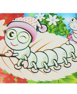 0642 FISSMAN Многоразовый коврик для рисования водой ГУСЕНИЦ