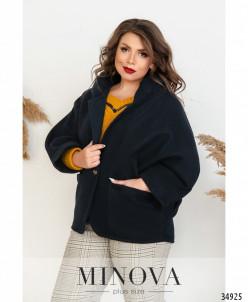 Пальто №1040.21Б-Синий
