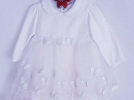 Нежное платье для девочки (бабочки).