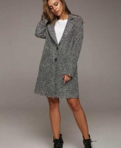 Облегченное пальто VALENTINA (серый) Lavana Fashion