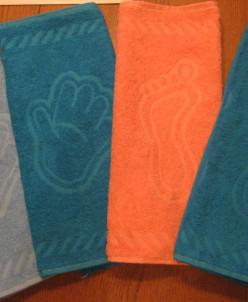 """Махровое полотенце 100% хлопок """"Ручки"""" 35*60 см."""